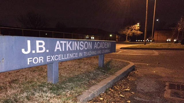The alleged incident happened at J.B. Atkinson Elementary.