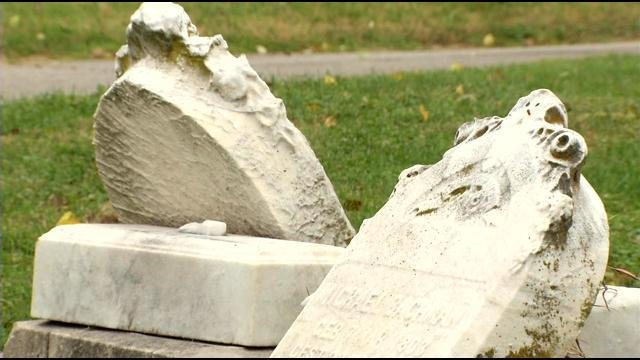 Eastern Cemetery's aging headstones lie in ruin, with some chance the people they memorialize don't lie beneath them.