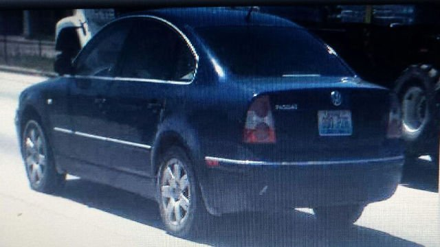 Florence Police are searching for this dark blue Volkswagen Passat with Kentucky license plate 000-PZR.