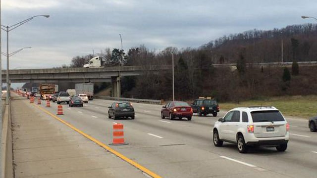 The absence of construction crews may alleviate some traffic issues in the area over the holidays.