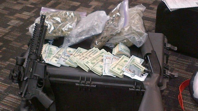 Seized items in the drug bust (Courtesy: Hardin County drug task force).