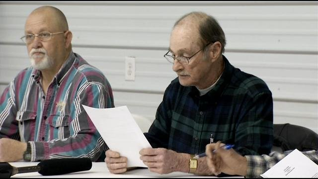 Hatfield reads his letter asking to withdraw his resignation.