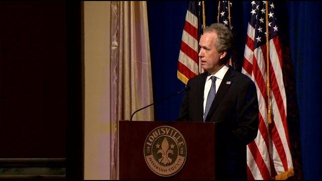 Louisville Mayor Greg Fischer says he's against a state takeover of Jefferson County Public Schools-- and he explained that to the interim Kentucky Department of Education Commissioner.