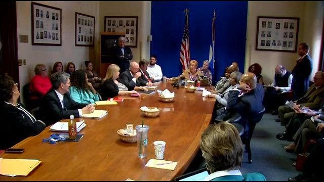 The Metro Council Democratic caucus meets Monday Jan. 5, 2015 to elect leadership before going into a closed door session to discuss personnel matters.