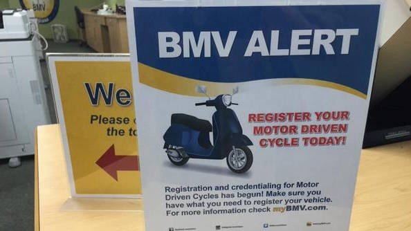 Scooter drivers must now register their 50cc scooters with the BMV after a new law took effect Jan. 1.