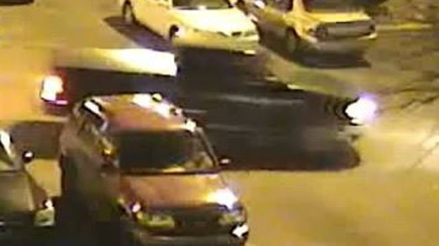 Police say the suspect fled the scene in this dark colored Ford F150 pickup truck.