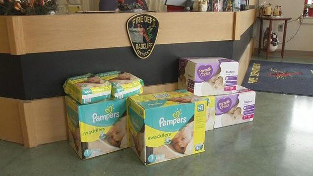 Thieves broke into the church through a front window and took valuables and several hundred dollars that was collected to buy diapers for low income families.