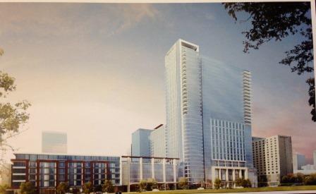 Rendering of Omni hotel in downtown Louisville