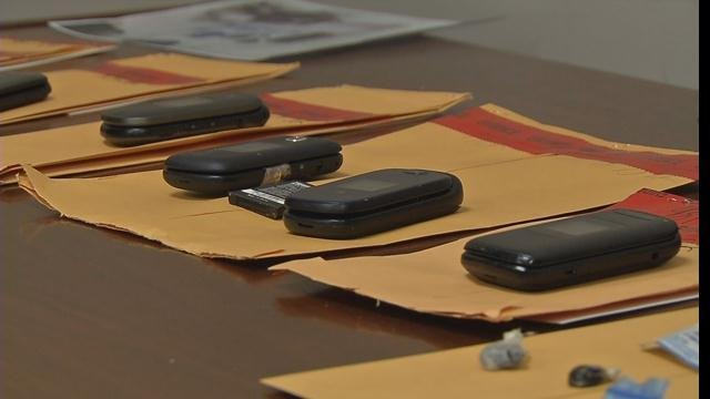 Cell phones are among contraband found during a sweep of the Clark County Jail in January 2015.