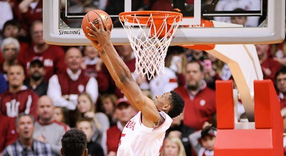 Troy Williams helped Indiana beat Ohio State with 15 points and 12 rebounds. (Jamie Owens photo.)