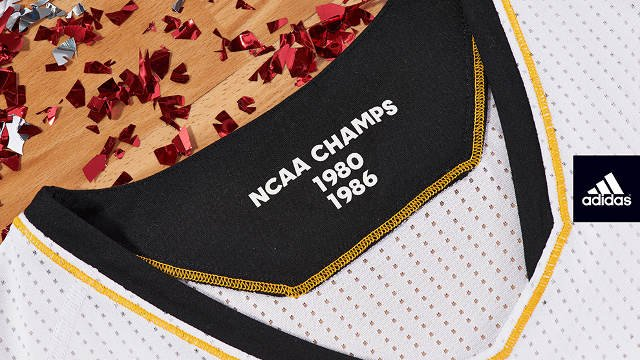 The uniforms are inspired by the 1980 and 1986 National Championships.