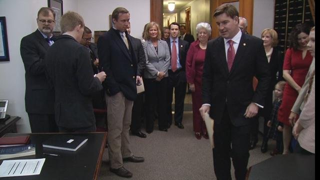 Conway announced back in May that he's running for governor. On Monday, he and running mate, Rep. Sannie Overly (D-Paris) made it official by filling papers.