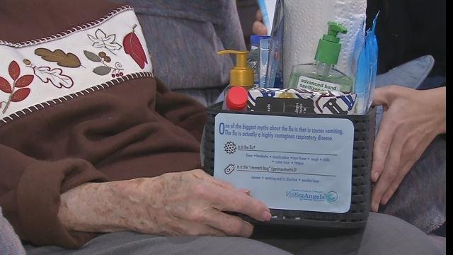 "Visiting Angels provides home care service to seniors and the company is putting together ""fight the flu kits"" for its elderly clients."