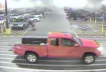 Police say the teens were still driving this red pickup truck, which had a gun in it when it was stolen.