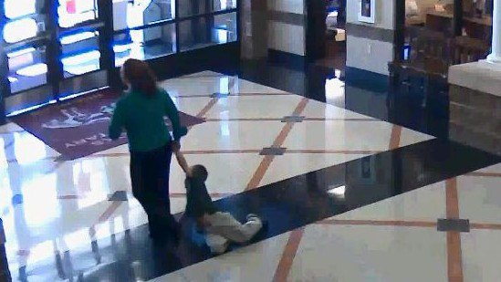 Former Brooks Elementary teacher Ashley Silas drug a first grader down the hallway on Oct. 29, 2014. The incident was captured on school cameras.