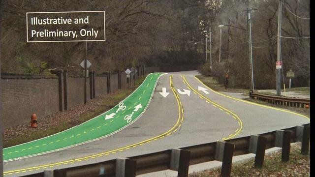 Steve Sizemore says thinning the road from four lanes to three lanes -- with the middle a designated turn lane -- will make it safer for everyone.