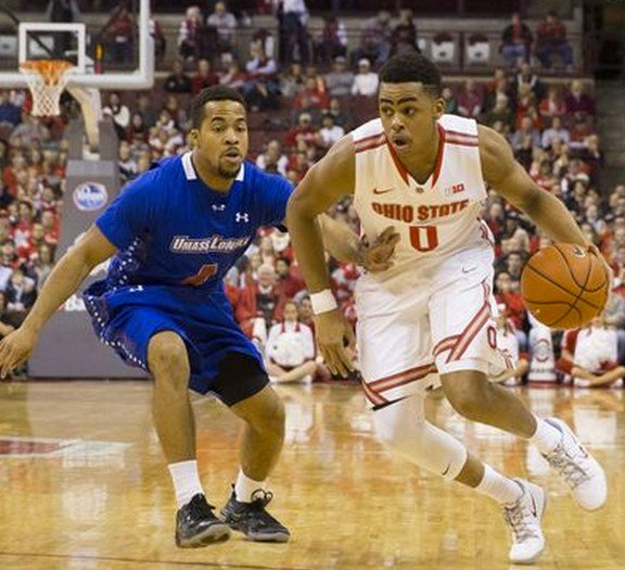 Former Central star D'Angelo Russell (0) is the highest-scoring freshman in the Big Ten.