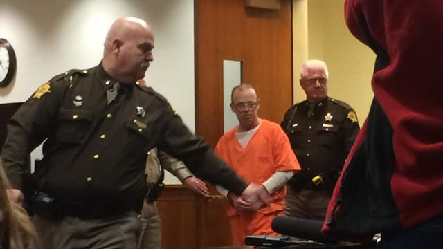 Stanley Dishon enters the courtroom where he is expected to accept a plea deal.