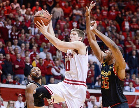 Collin Hartman scored a career high 15 points against Maryland.