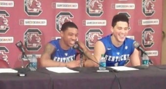 Tyler Ulis (left) assisted Devin Booker on three of his six field goals Saturday.
