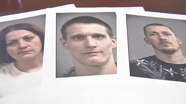 Nicole Hayes, Johnny Bodemann and Joe Toohey are the three people Metro Police have in custody.