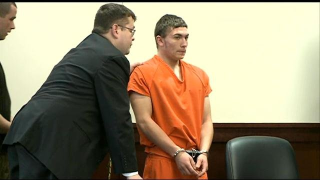 Dalton Hayes appeared in court, but told the judge he would not remain since there was media in the courtroom.