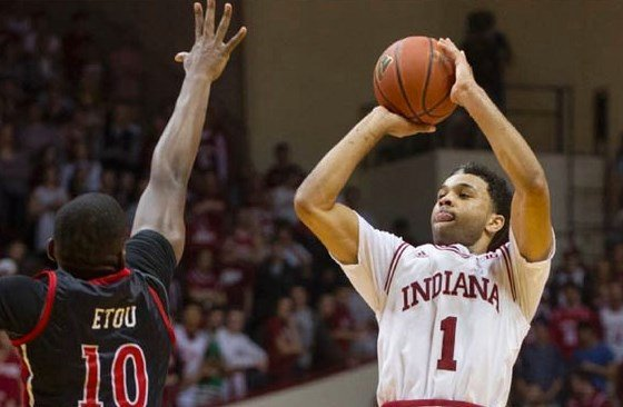 James Blackmon Jr. overcame a slow start to score 20 points as Indiana beat Rutgers.