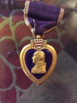 Homer Myers' Purple Heart.