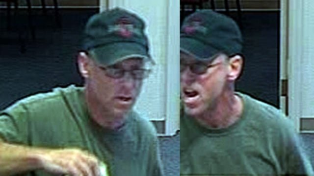 Court documents say this surveillance footage caught William McBride in the act of robbing a Fifth-Third Bank on New Cut Road in Louisville last August.