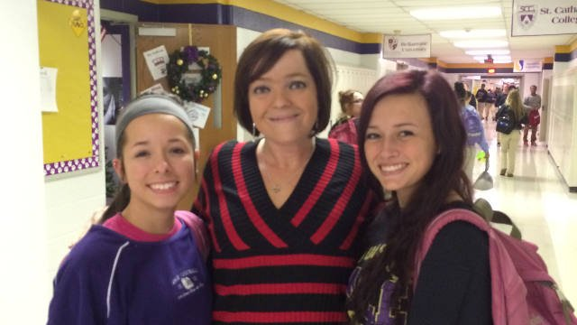 WDRB reporter Toni Konz, on assignment at Louisville Male High School on Jan. 6, 2015