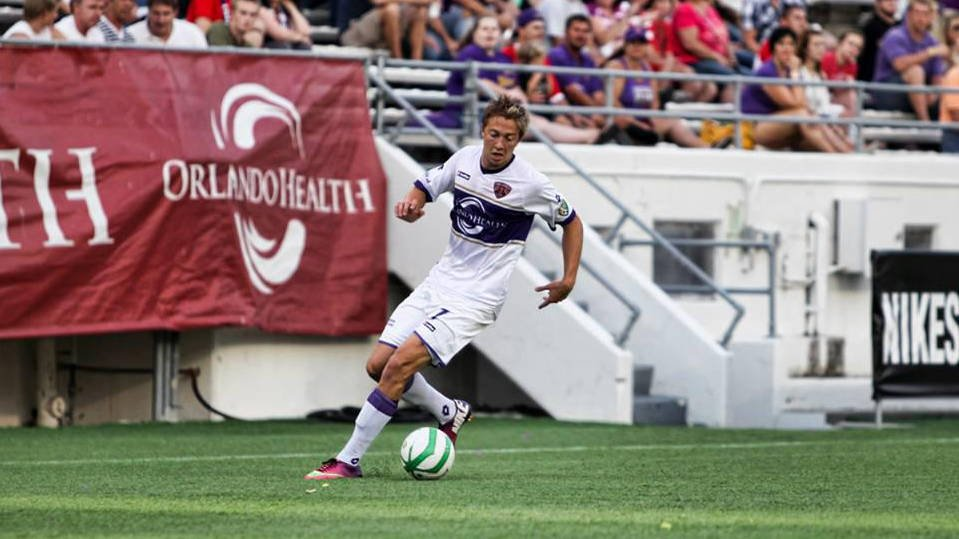 Bryan Burke with Orlando City Soccer Club, though Louisville is affiliated with Orlando Burke is not part of their player sharing agreement. (Source: Bryan-Burke.com)