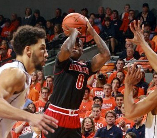 Terry Rozier led Louisville with 16 points in a loss at Virginia Saturday.