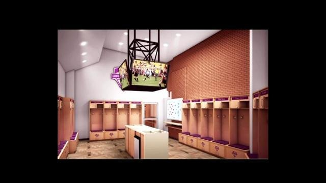 A rendering shows what the locker room will look like when complete.