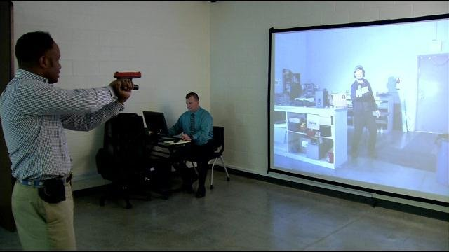 Clarksville Police asked me to go through the training simulator to learn, first hand, what they go through.