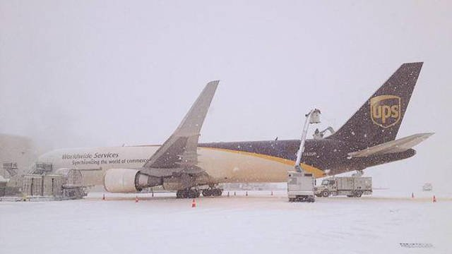 Winter weather is also causing delays at UPS Worldport in Louisville. Even with 10,000 employees some shipments are behind.