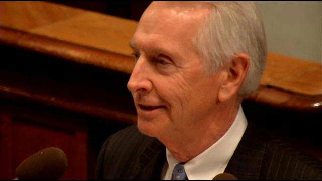 In this WDRB File Photo, former Ky. Gov. Steve Beshear delivers his state of the state speech.