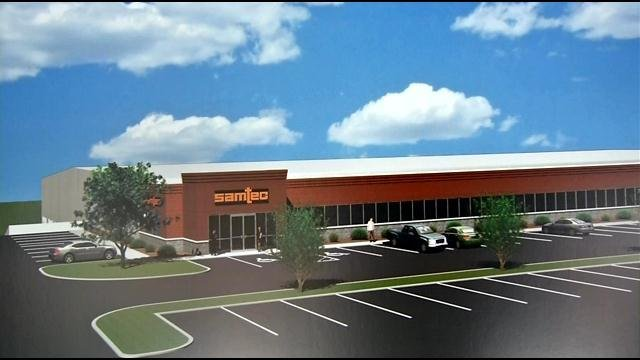 A rendering shows what the facility will look like in southern Indiana.