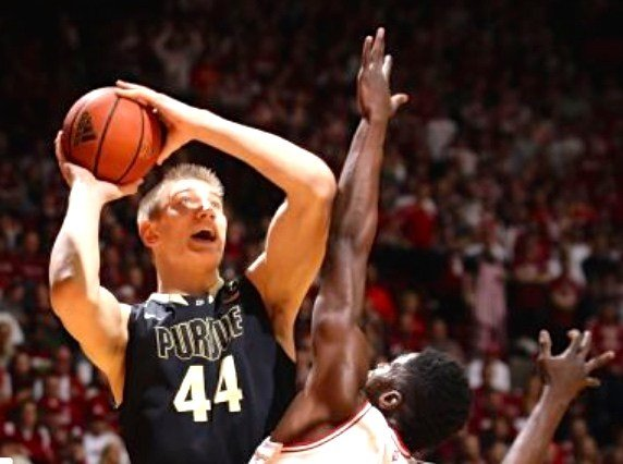 Isaac Haas, a 7-2 Purdue freshman, scored 12 points in 12 minutes as the Boilermakers won at Indiana.