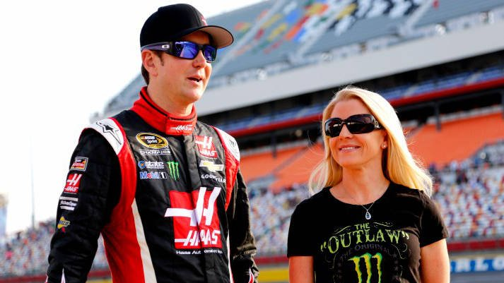 Kurt Busch with now ex-girlfriend Patricia Driscoll in May of 2014. (Photo: AP)