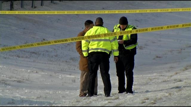 Police speak to a witness on I-71 as they investigate what's now being called a fatal 'road rage' incident.