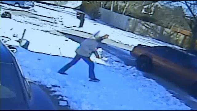 Surveillance footage shows a girl asking to use someone's phone in the neighborhood.