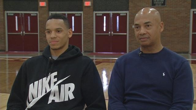 Jerry Eaves Eaves and his son, Anthony, decided that he would play his senior year at Ballard, where Jerry's No. 24 jersey hangs on the wall.