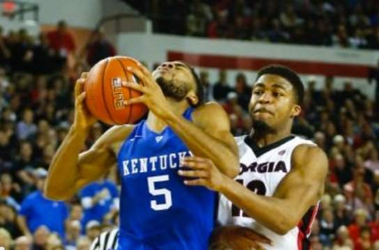 Andrew Harrison had a dozen points in UK's win at Georgia Tuesday.