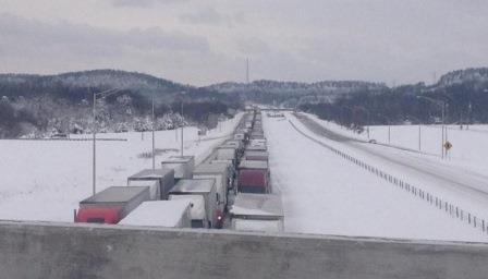 Interstate 65 in Bullitt County mid-morning on Thursday (Danielle Lama, WDRB)