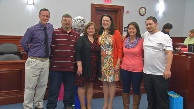 The most recent graduates of the Moving Beyond Abuse program.