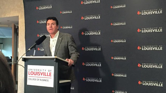 Papa John's founder John Schnatter speaks about the new academic center at U of L.