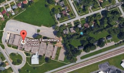 Google map of Bowen Elementary School and surrounding neighborhoods