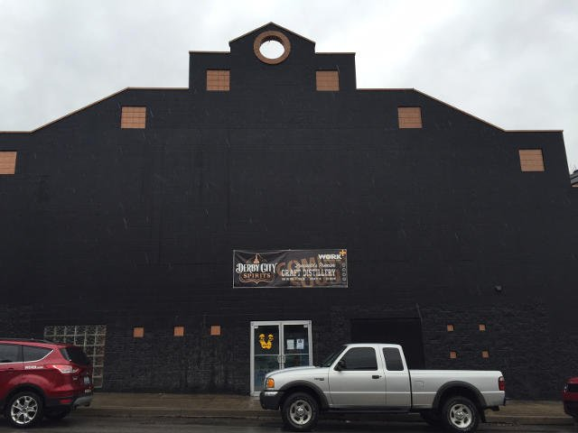The face of the building that will house the distillery in Phoenix Hill along Baxter Avenue.