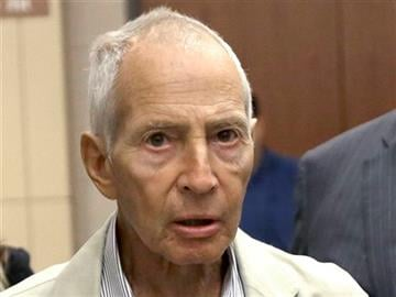 (AP Photo/Pat Sullivan, File). FILE - In this Aug. 15, 2014 file photo, New York City real estate heir Robert Durst leaves a Houston courtroom. Durst was arrested in New Orleans on an extradition warrant to Los Angeles on Saturday, March 14, 2015.