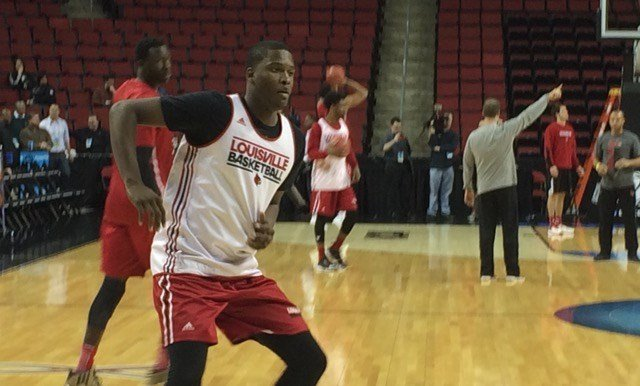Louisville freshman Jaylen Johnson could see increased playing time after recent strides in practice. WDRB photo by Eric Crawford.